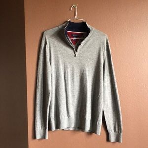 Tommy Hilfiger Wool Quarter Zip Sweater Large